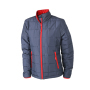 Ladies' Padded Light Weight Jacket navy/rood