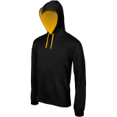 Men's contrast hooded sweatshirt