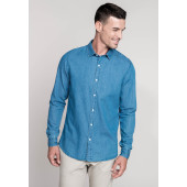 Herenoverhemd chambray