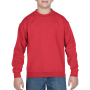 Gildan Sweater Crewneck HeavyBlend for kids red XL