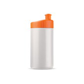 Sportbidon design 500ml wit / oranje