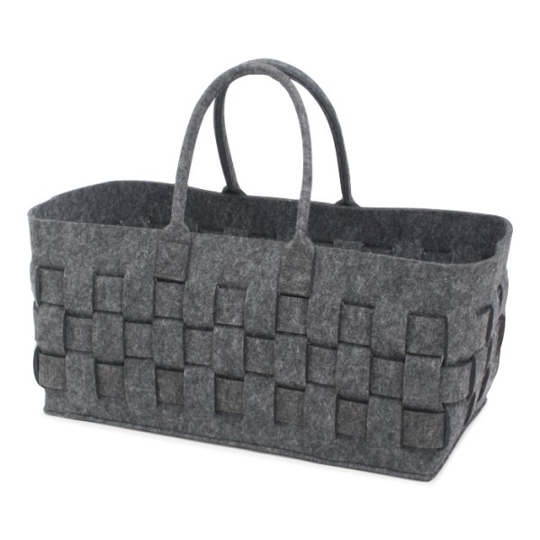 Felt Bag Braided Anthracite