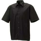 Men's short-sleeved pure cotton poplin shirt