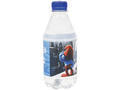 Ronde waterfles 300 ml. met platte dop