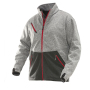 1247 Softshell Jacket Layer 3 grey melange/red xs