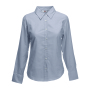 Lady-Fit longsleeve Oxford Shirt Oxford Grey S