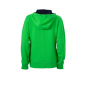 Ladies' Lifestyle Zip-Hoody groen/navy