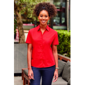 Ladies Short-Sleeve PolyCotton Poplin shirt