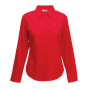 Lady-Fit longsleeve Poplin Shirt Red S
