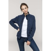 Ladies' full zip heather jacket
