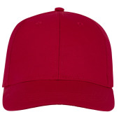 Ares 6 panel cap - Rood