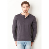 Jersey long sleeve henley
