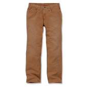 Weathered duck 5-pocket trousers