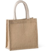 Jute canvas tote - small