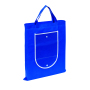 "Shopper ""Porto"",non-woven,foldable,blue"