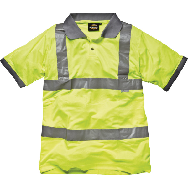 High visibility safety polo shirt