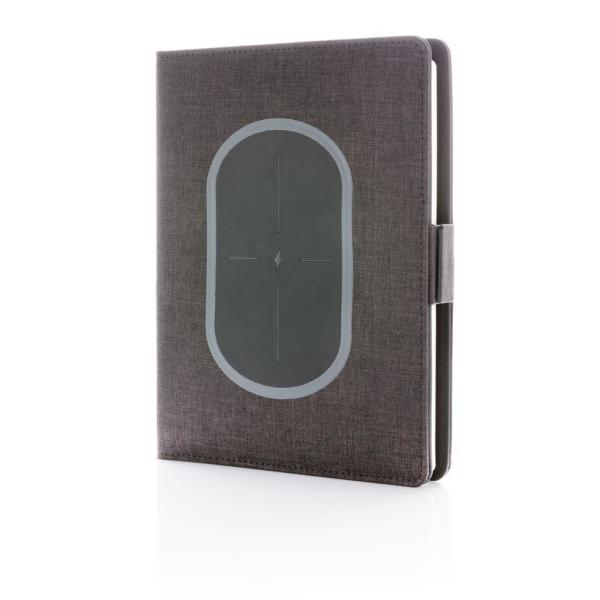 Air notebook cover A5 met 5W draadloze 4.000 mAh powerbank