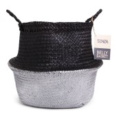 SENZA Belly Basket Black/Silver