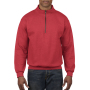 Gildan Sweater 1/4 Zip Cadet Vintage 40 red XXXL
