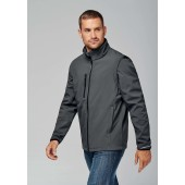 Unisex detachable sleeve softshell jacket