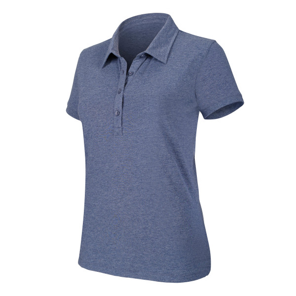 Ladies' short sleeve melange polo shirt