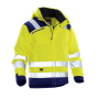 Jobman 1347 Hi-vis winter jacket star geel/navy 4xl