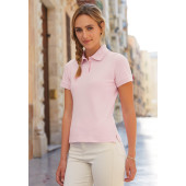 Fitted ladies' polo shirt