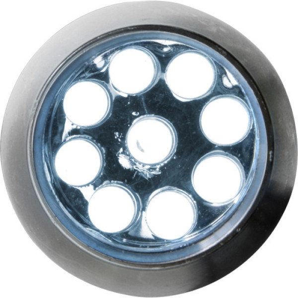 Aluminium zaklamp met 9 LED