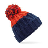 Apres Beanie - Oxford Navy/Fire Red