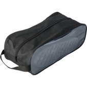 Nonwoven, zippered bag for shoes