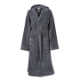 Functional Bath Robe Hooded carbon