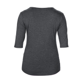 Women's Tri-Blend Deep Scoop 3/4 Sleeve Tee