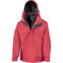 3-in-1 zip and clip jacket red / black xxl