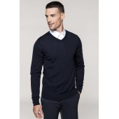 Men's v-neck merino wool jumper
