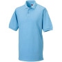 Men's classic cotton polo sky blue m
