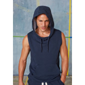 Sleeveless fleece sweatshirt