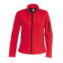 Dames softshell jas red l