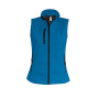 Dames softshell bodywarmer aqua blue xl
