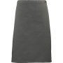'colours' mid length apron dark grey one size