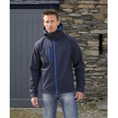 Hooded men's softshell jacket