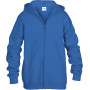 Heavy blend™classic fit youth full zip hooded sweatshirt royal blue 5/6 (s)