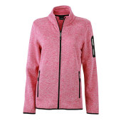 Ladies`Knitted Fleece Jacket
