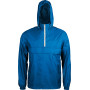 Ongevoerde windbreaker met halsrits light royal blue / white s