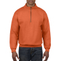 Gildan Sweater 1/4 Zip Cadet Vintage 37 orange XL