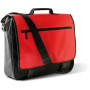 Flap over document bag black / red 40 x 34 x 10 cm