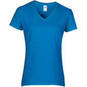 Premium cotton ladies' v-neck t-shirt