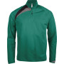 Trainingsweater met ritskraag dark green / black / storm grey 3xl