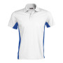 Flag - tweekleurige polo white / royal blue xl