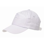 5 panel katoenen baseball cap RACING - wit