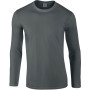Softstyle® euro fit adult long sleeve t-shirt charcoal xl